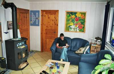 d nischer kaminofen und brennholz. Black Bedroom Furniture Sets. Home Design Ideas